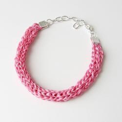 Pink Silk Bracelet