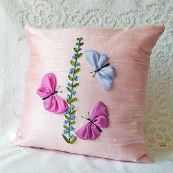 Butterflies Pillow Cover P..